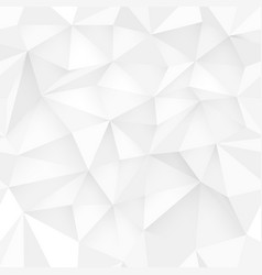 White 3d triangle pattern seamless white design vector