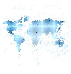 World Map techmology vector image