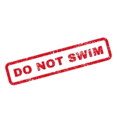 Do not swim text rubber stamp vector