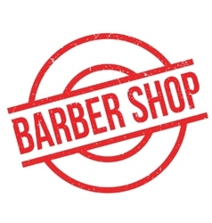 Barber shop rubber stamp vector
