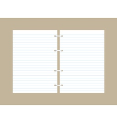 Blank papers vector
