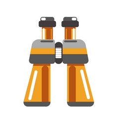 Binoculars device in orange color isolated on vector