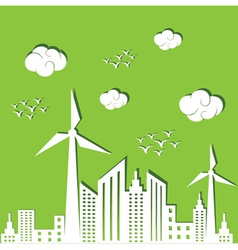 Eco city concept background vector