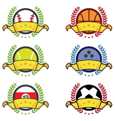 Sport icon winning badges vector image