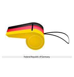 A whistle of federal republic of germany vector