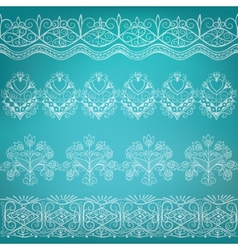 Set of ethnic folk border vector
