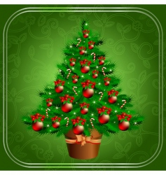 Christmas fir vector