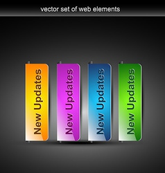 Stylish colorful web buttons vector