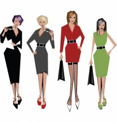 angular women vector image