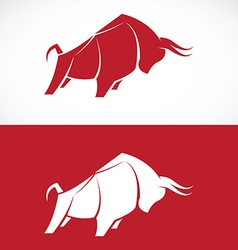 Image of bull design vector