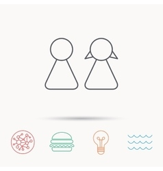Young couple icon male and female sign vector