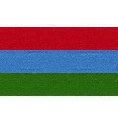 Flags karelia on denim texture vector