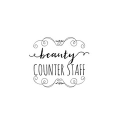 Badge for small businesses - beauty salon counter vector