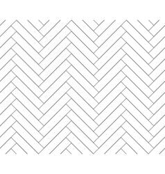 Black and white simple wooden floor herringbone vector