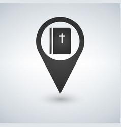 book bible pointer icon vector image vector image
