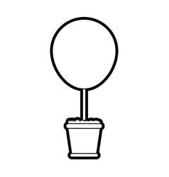 bush plant in pot icon image vector image