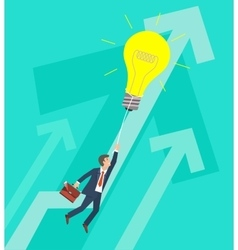 Business growth and innovation concept vector