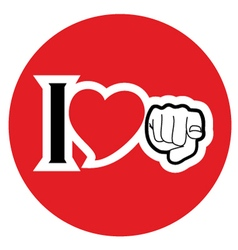 Circle love symbol vector