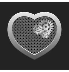 Concept heart with gears vector image vector image