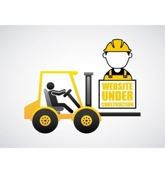 Construction machinery isolated icon design vector