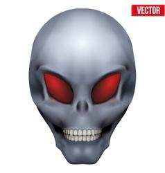 Creative humanoid alien skull vector