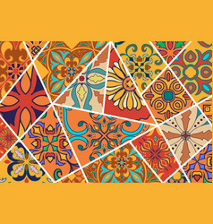 decorative background mosaic patchwork pattern for vector image vector image