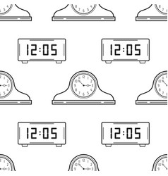 electronic watch and mantel clocks black and vector image