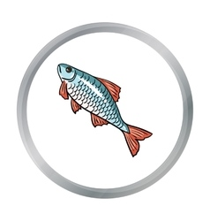 Fish icon in cartoon style isolated on white vector image vector image
