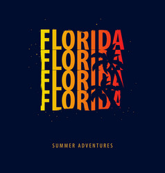 florida summer graphic with palms t-shirt design vector image