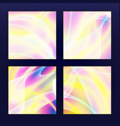 fluid iridescent multicolored background vector image