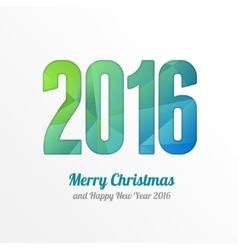 Happy New Year 2016 Colorful Greeting Card vector image vector image