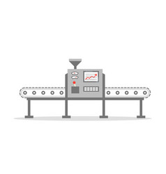 isolated conveyor belt in flat design factory vector image vector image