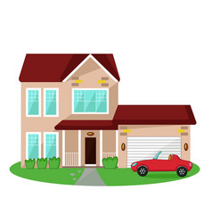 Isolated house icon vector
