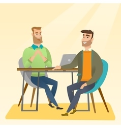 Job applicant having interview for the position vector image