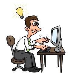 Man has found a solution 2 vector image vector image