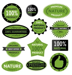 Nature labels vector image vector image