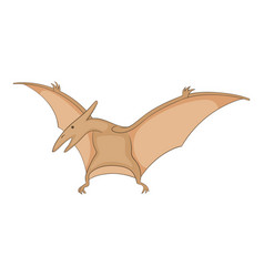 Pterosaurs icon cartoon style vector