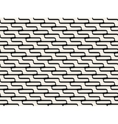Seamless ZigZag Rounded Lines Pattern vector image
