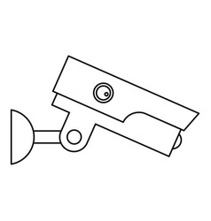 Security camera icon outline style vector