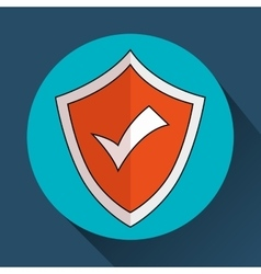 Security insurance shield vector