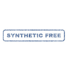 synthetic free textile stamp vector image