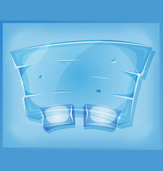 Transparent glass agreement panel for ui game vector