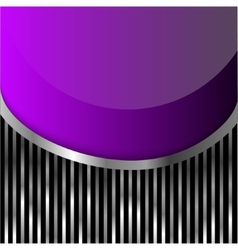 violet glass on stripes background vector image