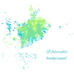 Watercolor blue-green background for your design vector