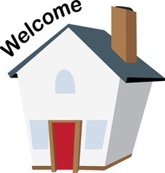 Welcome house vector