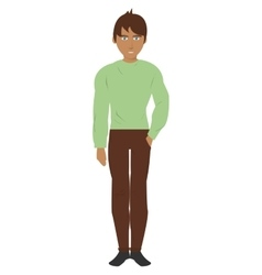 Single man with pants and shirt icon vector