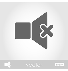 Mute sound icon vector