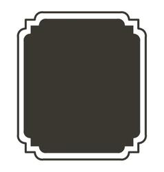 silhouette rectangle border heraldic decorative vector image