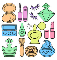 Beauty and fashion supplies vector