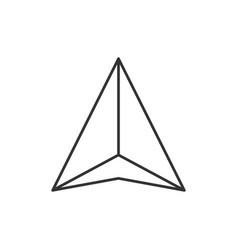 Gps navigation arrow icon vector